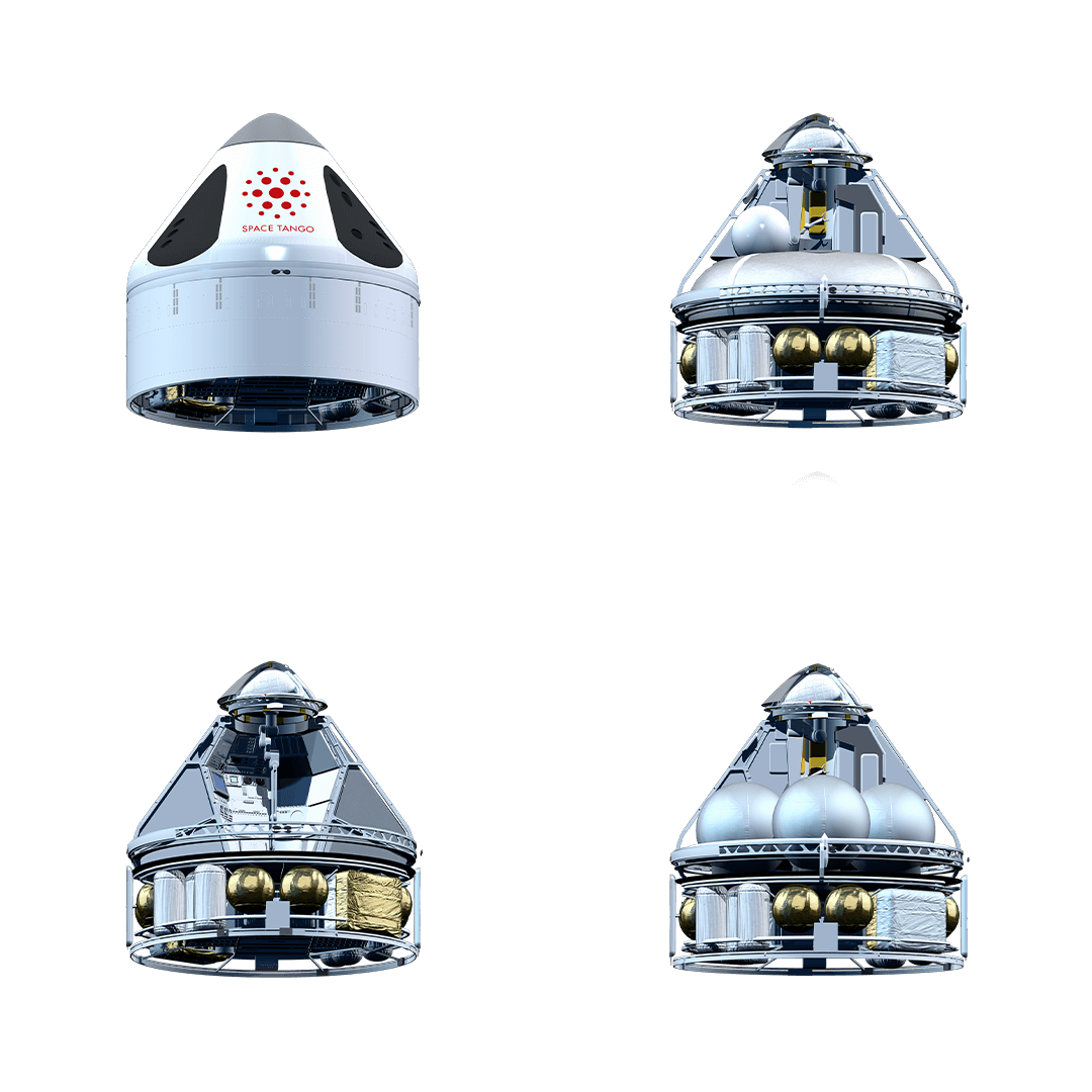 Four images of ST-42 showing configurable options